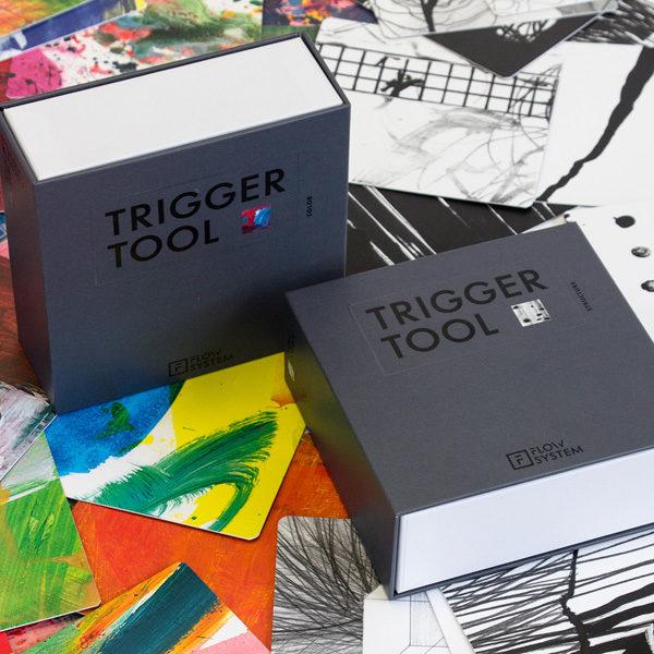 Trigger Tool Boxen mit ausgelegten Karten
